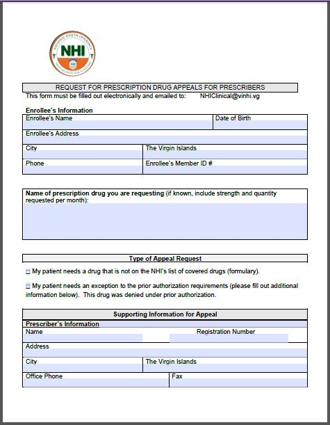 NATIONAL HEALTH INSURANCE - NHI FORMS